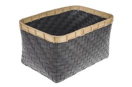 KOOPMAN Kosz prostokątny z bambusową obręczą 38 x 25 cm