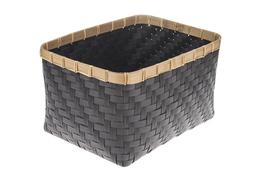 KOOPMAN Kosz prostokątny z bambusową obręczą 41 x 31 cm