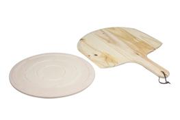 KOOPMAN Zestaw do pizzy płyta kamienna + deska