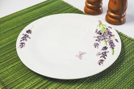 Talerz płytki porcelanowy z wzorem 22.5 cm