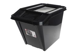 PLAST TEAM Pojemnik 58 L z pokrywką Top Store czarny