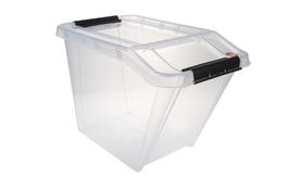 PLAST TEAM Pojemnik 58 L z pokrywką Top Store przezroczysty