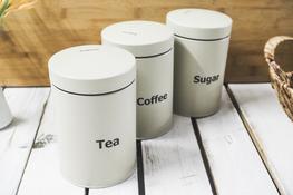 KLAUSBERG Zestaw 3 pojemników Kawa, Herbata, Cukier