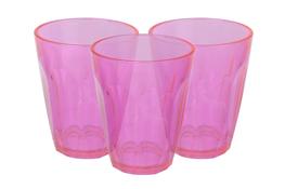 Komplet 3 szklanek Karlo 175 ml - różowe