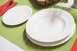 KRZYSZTOF FRYDERYKA IVORY Talerz płytki obiadowy 24 cm