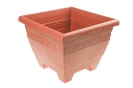 HEGA Doniczka plastikowa kwadratowa Lima 40 cm brązowa