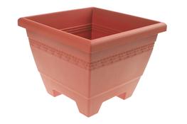 HEGA Doniczka plastikowa kwadratowa Lima 30 cm brązowa