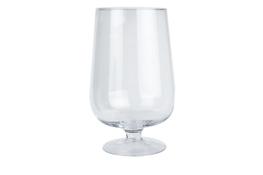 Świecznik szklany na stopce 25.5 cm