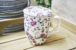 Kubek ceramiczny z zaparzaczem 350 ml