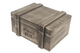 KOOPMAN Skrzynka drewniana 34 x 26.5 x 17.5 cm brązowa
