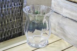 Świecznik szklany h - 15 cm