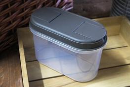 PLAST TEAM Pojemnik owalny 1.1 L szary
