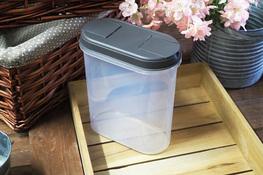 PLAST TEAM Pojemnik owalny 2.4 L szary