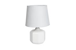 Lampka nocna elektryczna z okrągłym kloszem popiel