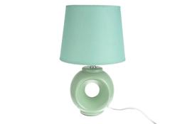 Lampka nocna elektryczna z okrągłym kloszem zielona