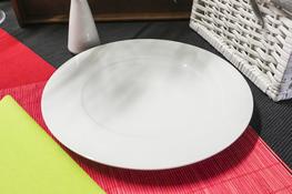 Talerz płytki Karlo 28.5 cm biały