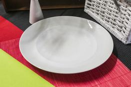 Talerz płytki Karlo 27.5 cm biały