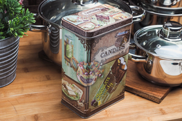 Puszka prostokątna Coffee h- 19 cm
