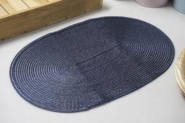 Mata stołowa owalna 44.5 x 29 cm grafitowa
