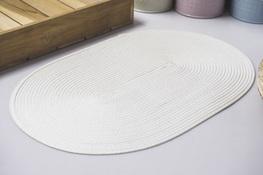 Mata stołowa owalna 45.5 x 29 cm biała