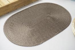 Mata stołowa owalna 44.5 x 29 cm brązowa
