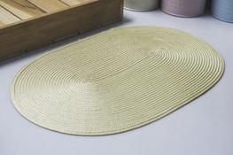 Mata stołowa owalna 45  x 29 cm beżowa