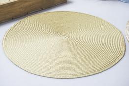 Mata stołowa okrągła 39.5 cm beżowa