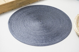 Mata stołowa okrągła 37.5 cm grafitowa