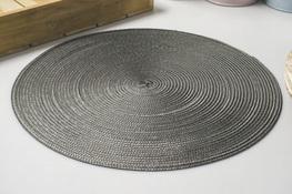 Mata stołowa okrągła 38.5 cm szara