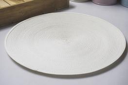 Mata stołowa okrągła 37.5 cm biała