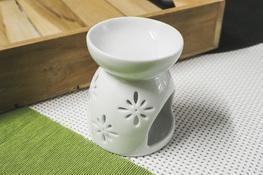 Kominek zapachowy ceramiczny, biały