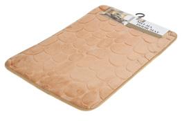 Dywanik łazienkowy 60 x 40 cm brązowy jasny