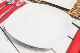 LUBIANA SUNRISE Talerz płytki obiadowy 24.5 cm