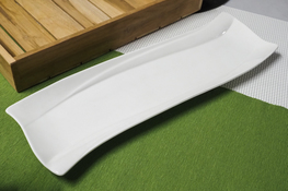 Półmisek porcelanowy fala 35 x 10 cm