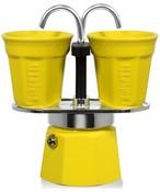 BIALETTI Mini Express Color 2 TZ zestaw kawiarka + 2 filiżanki żółty