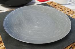 LUMINARC STONEMANIA GREY Talerz płytki 25 cm