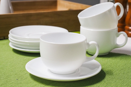 LUMINARC DIWALI WHITE Serwis kawowy 180 ml 12/6