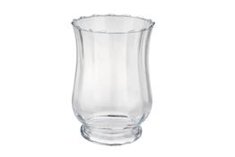Świecznik szklany h 19.5 cm