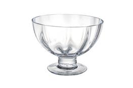 Salaterka szklana na stopce h 13 cm