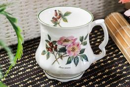 HANIPOL Porcelanowy Kubek Babuni 400 ml dzika róża