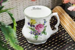 HANIPOL Porcelanowy Kubek Babuni 400 ml kwiaty