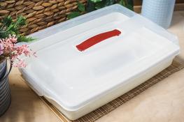 CURVER Pojemnik płaski na ciasto 43 x 29 x 11.5 cm kremowy