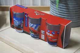 LUMINARC DISNEY Komplet 3 niskich szklanek 160 ml Auta 2