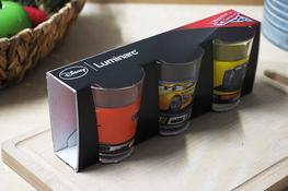 LUMINARC DISNEY Komplet 3 niskich szklanek 160 ml Auta 3