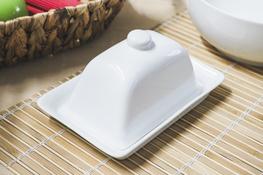 Maselnica porcelanowa 18.5 x 12 cm biała