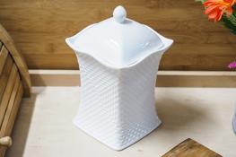 Porcelanowy pojemnik na produkty sypkie h - 20.5 cm