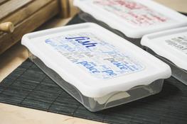 HEGA PRACTIC LETTERS Pojemnik plastikowy 18 x 12 x 3 cm