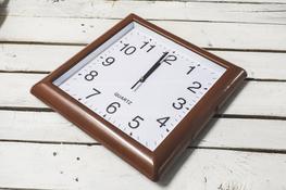 Zegar ścienny kwadratowy 31.5 x 31.5 cm