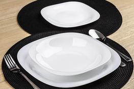 LUMINARC CARINE WHITE Serwis obiadowy 36/12