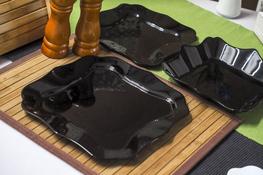 LUMINARC AUTHENTIC BLACK Serwis obiadowy 36/12